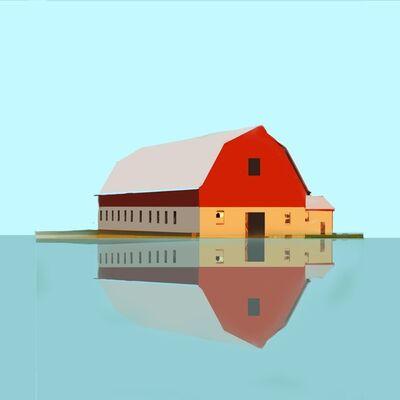 Richard Finkelstein, 'Red barn-flood', 2017