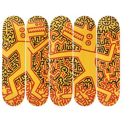 Keith Haring, 'Monsters Skateboard Decks', 2019