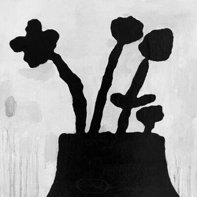 Donald Baechler, 'Black Flowers 1.2020', 2020