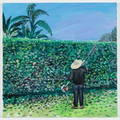 Ramiro Gomez, 'A Man Trimming a Hedge ', 2018