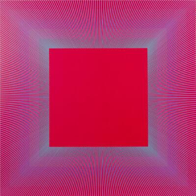 Richard Anuszkiewicz, 'Rainbow Squared Red', 2019