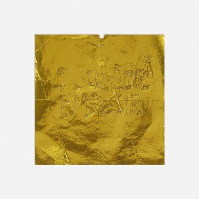 James Lee Byars, 'text on metallic gold paper', c. 1975