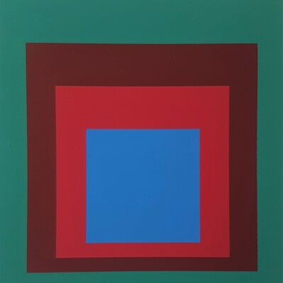 "Josef Albers, 'Homage to the Square: Protected Blue (from ""Albers"")', 1971"