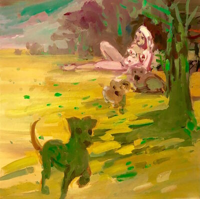 Deborah Brown, 'Green Dogs', 2018