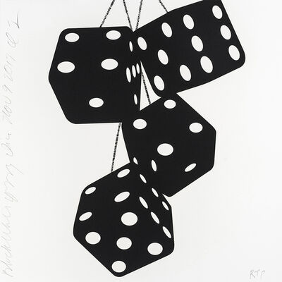 Donald Sultan, 'Black White Fuzzy Dice', 2017