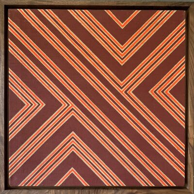 James Hilleary, 'Hilleary No. 108, Magna Acrylic on Unprimed Linen Canvas', 1968