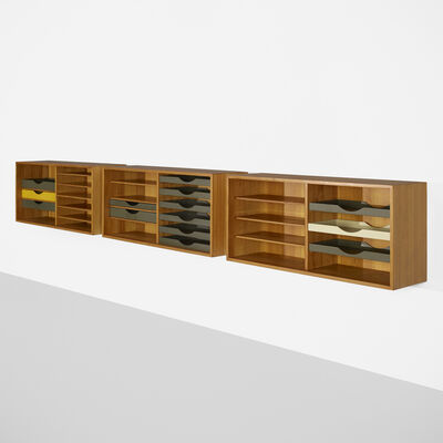 Börge Mogensen, 'Wall-mounted cabinets, set of three', c. 1955