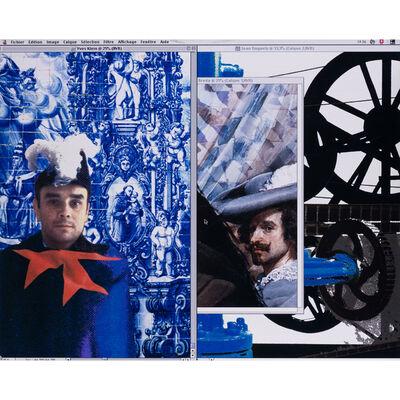 Raymond Hains, 'Yves Klein - Jean Tinguely I', 2000