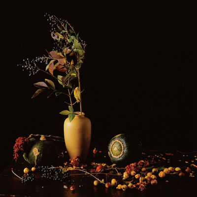 Paul Cary Goldberg, 'Yellow Vase, Squash, Berries'