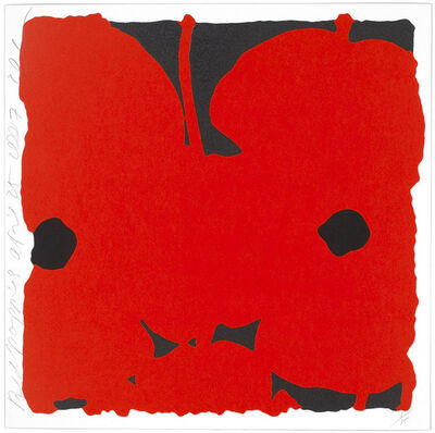 Donald Sultan, 'Red Poppies, April 25, 2007', 2007