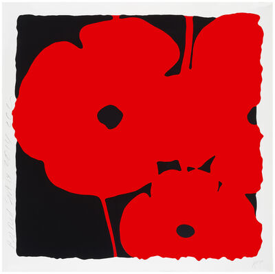 Donald Sultan, 'Big Poppies, Sept 14, 2014 (Red)', 2014