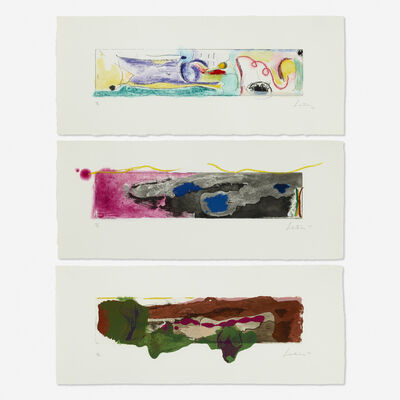 Helen Frankenthaler, 'A Page from a Book I, II, III (three works)', 1997