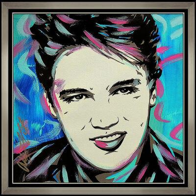 Allison Lefcort, 'Allison Lefcort Original Elvis Presley Acrylic Painting Signed Modern Portrait', 21st Century