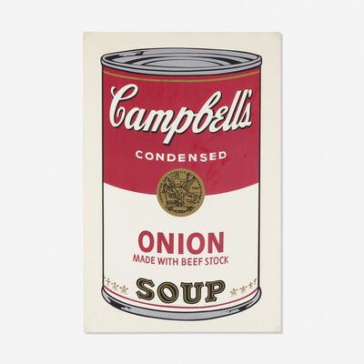 Andy Warhol, 'Onion Soup Can from Campbell's Soup I', 1968