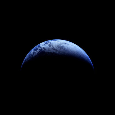 Michael Light, '118 Crescent Earth; Photographed by Robotic Camera, Apollo 4 (Unmanned), November 9, 1967', 1999