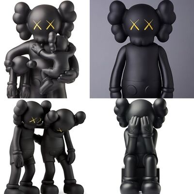 Keith Haring, 'KAWS Black Companions: set of 4 (KAWS Companion 2016-2019)', 2016-2019