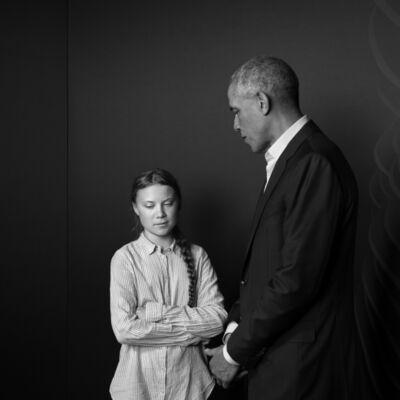 Max Modén, 'Miss Greta Thunberg and President Barack Obama', 2019