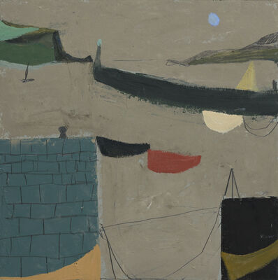 Nicholas Turner, 'Harbour wall with Boats'
