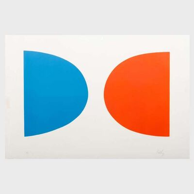 Ellsworth Kelly, 'Blue and Orange (Bleu et orange) from Suite of Twenty Seven Color Lithographs', 1964-1965