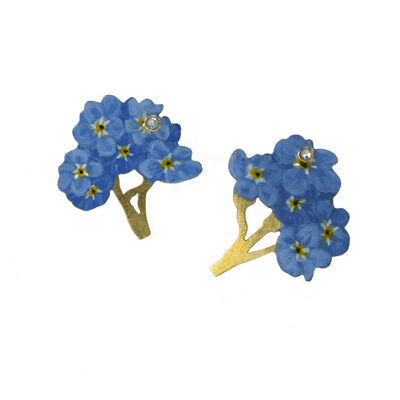 CHRISTOPHER THOMPSON ROYDS, 'Natura Morta: Forget-Me-Not Earrings (Post)', 2020