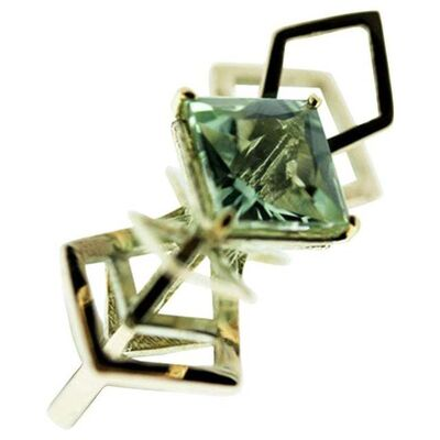 Unknown Designer, '9 Karat British Gold and Natural Green Quartz Cocktail Ring', 2010