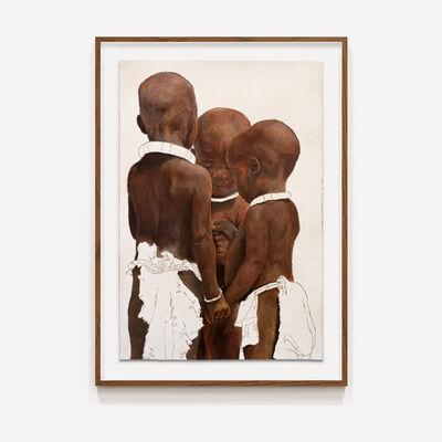 Gabriel Choto, 'Abafana Abathathu Abancane ( Three Little Boys)', 2020