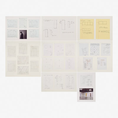 Robert Mangold, 'Untitled, Ten framed preliminary drawings for paintings'