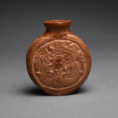 Mayan, 'Mayan Terracotta Poison Bottle', ca. 500-900 AD