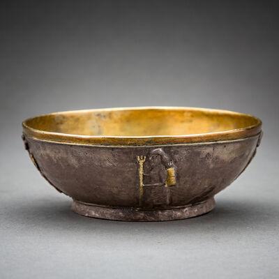 Unknown Achaemenid, 'Achaemenid Gilt Silver Bowl with Standing Figures', 500 BC to 400 BC