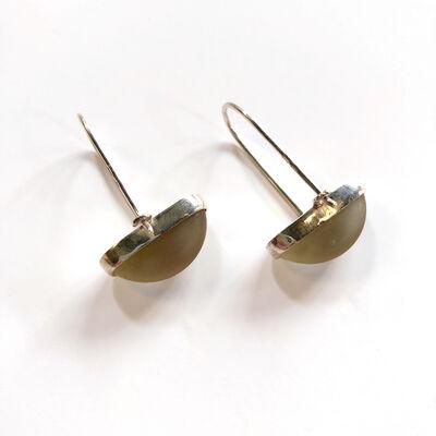 Marta Edöcs, 'Rhubarb Minimal Earrings'