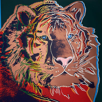 After Andy Warhol, 'Siberian Tiger, Pine Barrens Tree Frog, Bighorn Ram, Giant Panda, San Francisco Silverspot, Black Rhinoceros, African Elephant, Orangutan, Bald Eagle and Grevy's Zebra', 1983