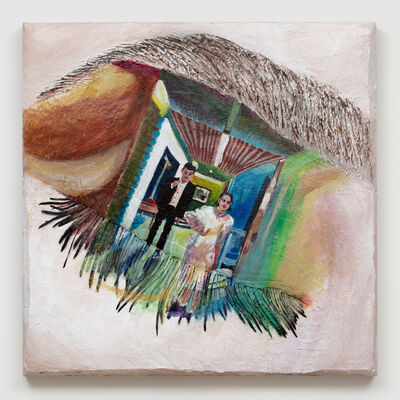 Gina Beavers, 'Liz Phair 'Parasite' Eye', 2020