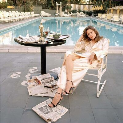 Terry O'Neill, 'Faye Dunaway Oscar Outtake ( co-signed)', 1977