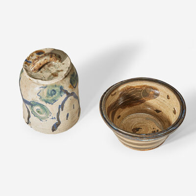Kirk Mangus, 'Covered Jar and Bowl, USA'