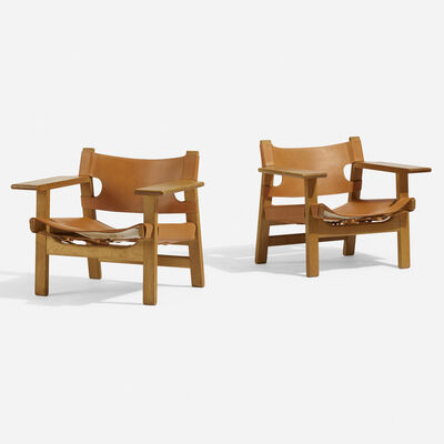 Börge Mogensen, 'Spanish chairs, pair', 1959