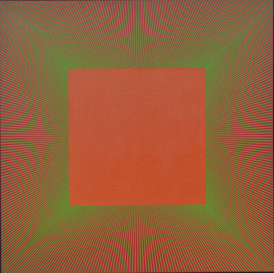 Richard Anuszkiewicz, 'Green Edged Light Red Oxide', 1980