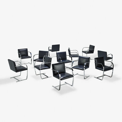 Ludwig Mies van der Rohe, 'Set of twelve Brno chairs, USA'