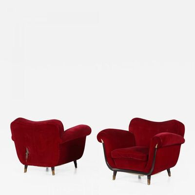 Guglielmo Ulrich, 'Pair of Midcentury Italian Armchairs Attributed to Guglielmo Ulrich, from 1950s', 1950-1959