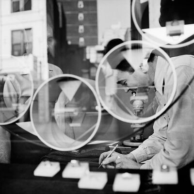 Vivian Maier, '0117585, Jeweler Through Window', 2014