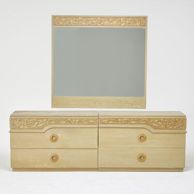 James Mont, 'Two-part dresser and matching mirror', 1960s
