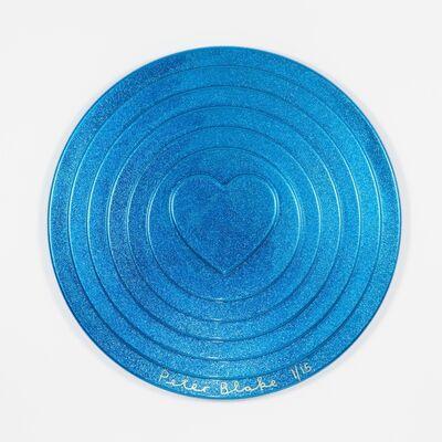 Peter Blake, 'Blue Target (metal flake)', 2017
