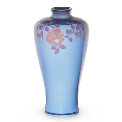 Rookwood Pottery, 'Jewel Porcelain vase with stylized flowers (uncrazed)', 1917