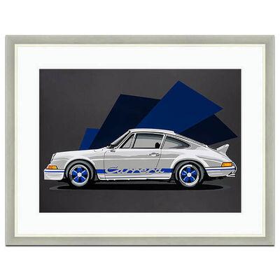 Joel Clark, 'White Porsche Carrera 2.7RS | Automotive | Car', 2016
