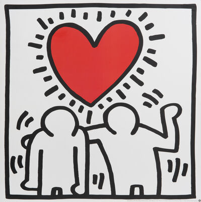 Keith Haring, 'Heart Couple'