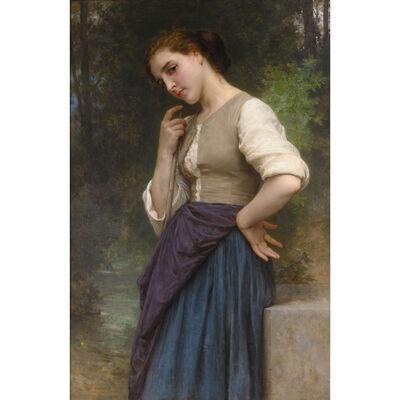 William-Adolphe Bouguereau, 'The Shepherdess', 1895