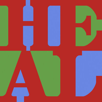 Robert Indiana, 'HEAL (Red, Green, Blue Variation)', 2015