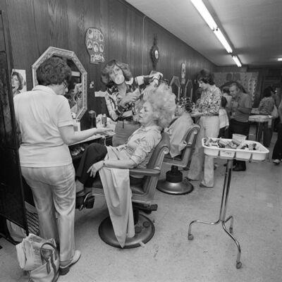 Meryl Meisler, 'Mom Getting her hair Teased at Besame Beauty Salon, North Massapequa, NY. June 1979', 2016