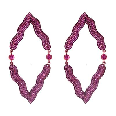 William Ehrlich, 'Red Victoria Earrings (Reflected)'