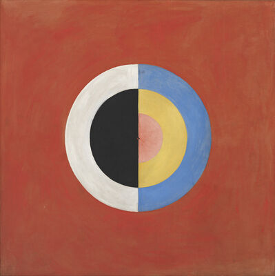 Hilma af Klint, 'Group IX/SUW, The Swan, No. 17 (Grupp IX/SUW, Svanen, nr 17), from The SUW/UW Series (Serie SUW/UW)', 1915
