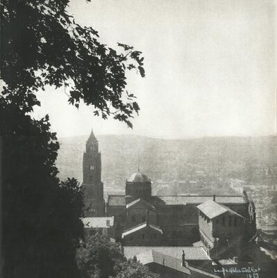 Laure Albin-Guillot, 'Scene of a Church and the Town Beyond, France', 1953c/1953